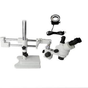 7X-45X DOUBLE ARM WHITE TRINOCULAR MICRISCOPE