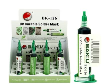 BK-126 UV CURABLE SOLDER MASK GREEN BAKU
