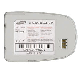 X640 BATTERY SAMSUNG