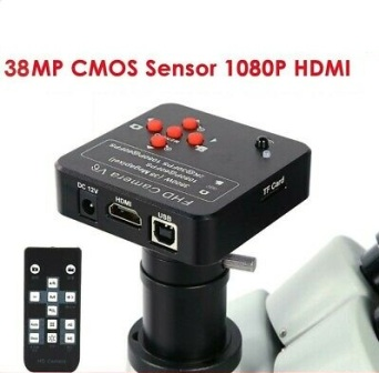 38MP HD HDMI USB VGA MICROSCOPE CAMERA