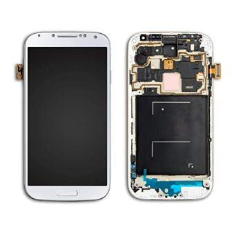 I9500 S4 LCD WHITE WITH FRAME COMPLETE SAMSUNG