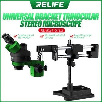 RL-M3T-STL2 GREAN+BLACK DOUBLE ARM MICROSCOPE RELIFE
