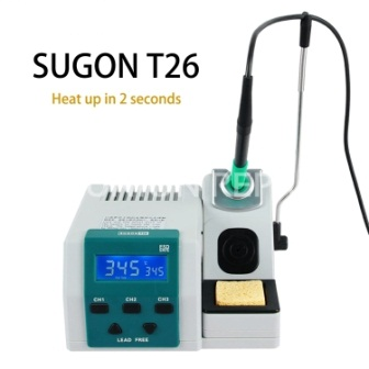 T26 SOLDERING IRON SUGON WITH 3PCS PROTECTION TIP